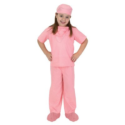 Girls Pink Jr. Doctor Costume Scrubs - Child Size 8-10