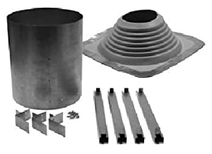 Universal Metal Roof Flashing with Rubber Boot
