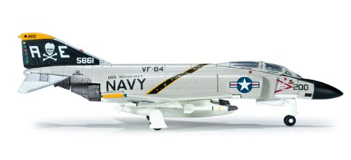 Herpa Wings US Navy Jolly Rogers F-4J Phantom 2 Model Airplane