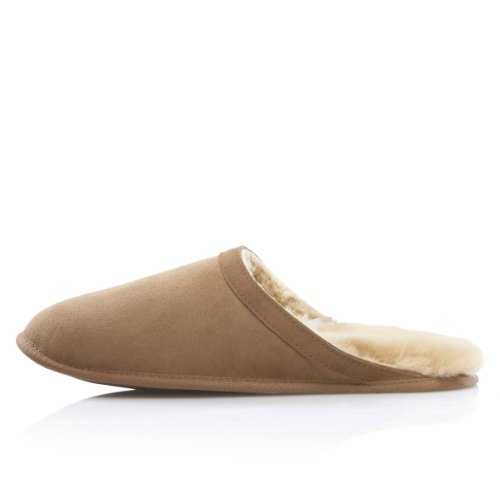 Cheap Dominion 'Emperor' Men's Shearling Slide Slippers (B003YYJ5ZA)
