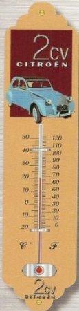 thermometre-deco-metal-citroen-2cv-bleue-tt235