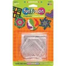 Perler Beads Fun Fusion Bead Pegboards 5-Pack: Circle/Star/Heart/Hexagon/Square - Perler Beads Fun Fusion Bead Pegboards 5-Pack: Circle/Star/Heart/Hexagon/Square