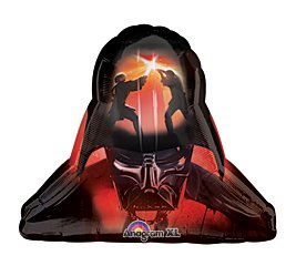 "Star Wars Darth Vader Helmut Supershape Boy Birthday Party 29"" Balloon - 1"