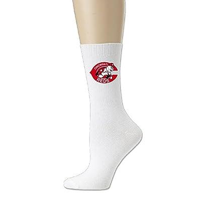 MLB Cincinnati Reds Logo Crew Socks For Men And Women White