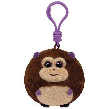 Ty Beanie Ballz - Bananas-Clip the Monkey - 1
