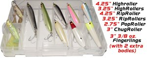 Inshore Flats Fishing Lure Kit Saltwater Snook Tarpon Top Water Peacock Bass Handmade... by High Roller