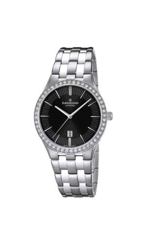 Candino C4544/3 - Reloj analógico de cuarzo para mujer, correa de acero inoxidable color plateado