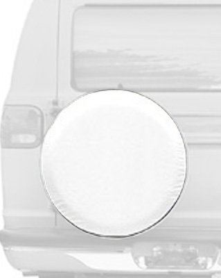 Classic Accessories 75160 Custom Fit Spare Tire Cover, Snow White For Wheel Diameter 30 Inches  to 30.75 Inches