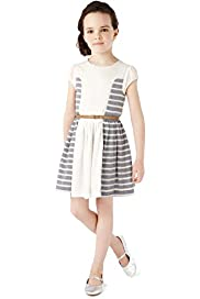 Autograph Striped Dress with Belt