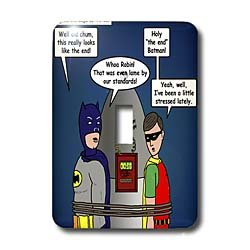 Rich Diesslins Funny General Cartoons - Lame Lines and the Classic Batman TV Show - Light Switch Covers - single toggle switch