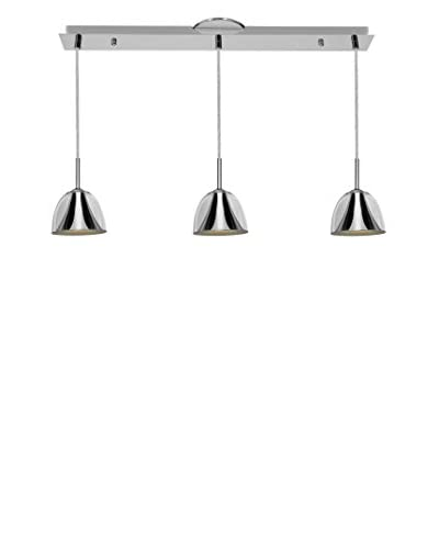 Access Lighting Metalico 3-Light Linear Pendant, Chrome/Clear