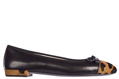 Prada ballerine donna in pelle originale animalier nero EU 40 1F889D 3F8B F0002
