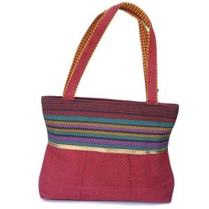 Ecofrendz Ethnic Shoulder Bag - Charming Red (VBHC-93-11)