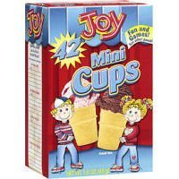 Joy Mini Cups; Mini Ice Cream Cones for Kids, 42 Count (1 Box (42 cones))
