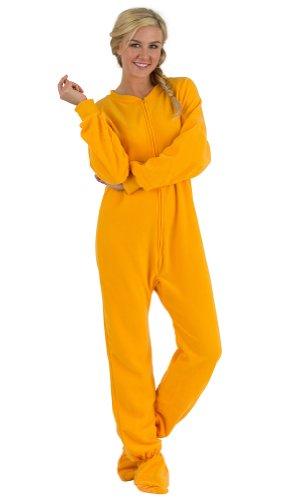 Footed Pajamas Creamsickle Adult Fleece - Medium front-166759