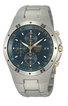 Seiko SND449P1 Men's Titanium Chronograph Watch