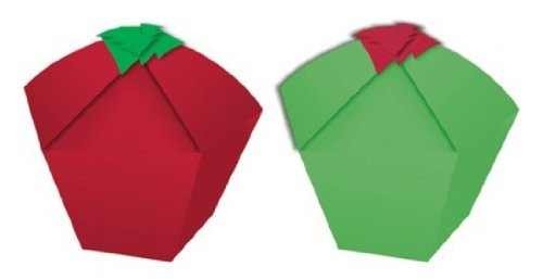 Creative Converting Presentation Station Individual Cupcake or Candy Favor Boxes, Red and Green with Trees, 4 Boxes Per Package