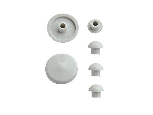 WC-Sitz-Puffer Nr. 21 | Auflagestopfen für Toilettensitz | Abstandhalter für WC-Brille | Dämpfer | Weiß | Kunststoff