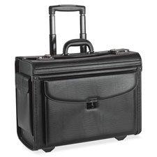 Lorell 61612, Rolling Laptop Catalog Case, Maximum 16 In. Screen Size, Black Vinyl