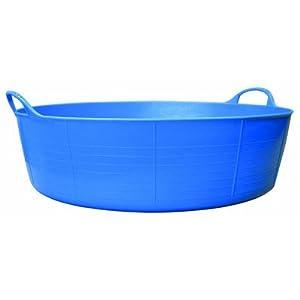 Tubtrugs SP35BL 9-Gallon Storage Bucket, Blue, Shallow