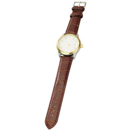 Die beste Wahl! Luxus Automatik-Uhrwerk Diamanten Embedded Männer Geschäfts-Leder-Armbanduhr