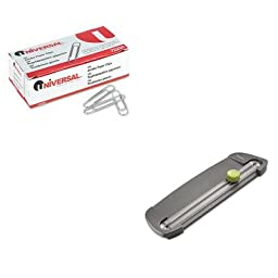 KITSWI1112UNV72220 - Value Kit - Swingline SmartCut Compact Personal Rotary Trimmer (SWI1112) and Universal Smooth Paper Clips (UNV72220)