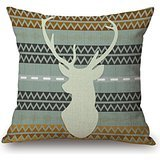 Alphadecor Pillow Covers Of Slimmingpiggy Comfortable Bedding A Pop Pattern Background With A Elk 20x20 Inch Pillow Case 20 X 20 Inches / 50 By 50 Cm,best Fit For Saloon,father,family,kids Girls,ca (Wall Decals Brown Stripes compare prices)