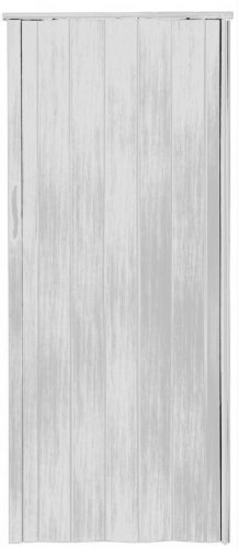 Falttr-Schiebetr-Tr-weiss-gewischt-farben-Hhe-202-cm-Einbaubreite-bis-85-cm-Doppelwandprofil-Neu