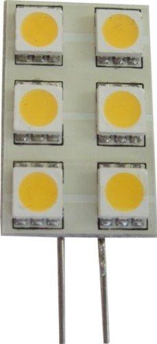 Pack Of Two (2), Led G4 6 X 5050 Rectangle Uni-Directional Lamp Bulb 12V