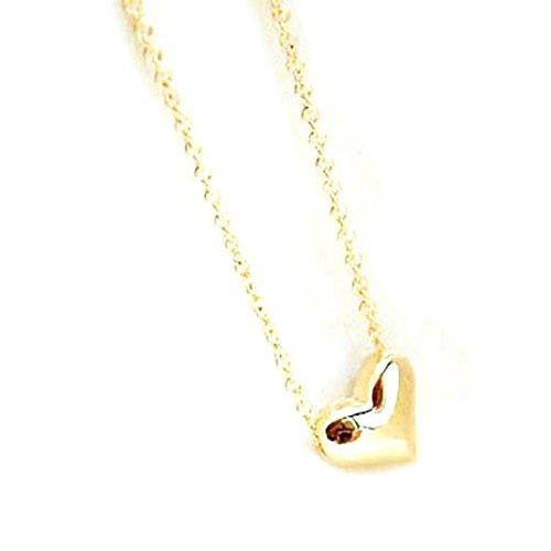 Aokdis (Tm) Hot Selling Fashion Women Gold Heart Bib Statement Chain Pendant Necklace Jewelry