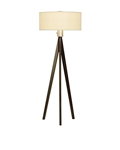 Nova Lighting Tripod 3-Light Floor Lamp, Dark Brown