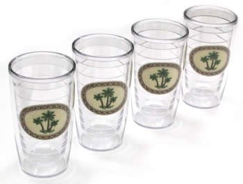 Tervis 16oz. Set Of Four Palm Tree Tumblers