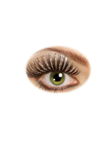 Rubie's Costume Co Hologram Lashes Costume, Black/Silver, Large - 1