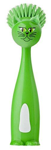 Vigar-Vincents-Farm-Spazzola-lavapiatti-design-cat-tummy-colore-verde