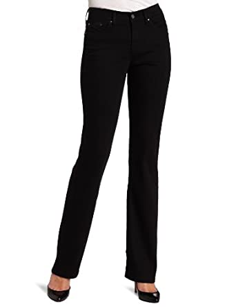 Levi's Women's 512 Petite Perfectly Slimming Jean, Black, 2 Petite Medium