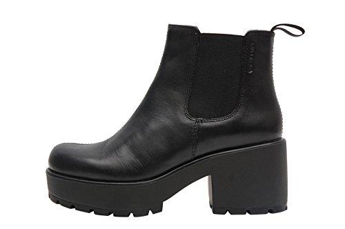 Vagabond Dioon elastic boots black with hell - Stivaletti neri con elastico e tacco