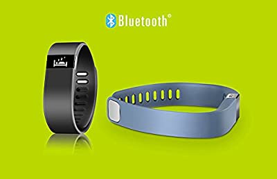 Fastgo Fitness Activity and Sleep Tracker Wireless Bluetooth Wristband - With SMS Message Notification, Incoming Call Notification, Vibration Mode, Remote Bluetooth Shutter, Sleep Mode, Steps, Calorie Burned, Distance, Sport Mode, Mobile Searching Mode