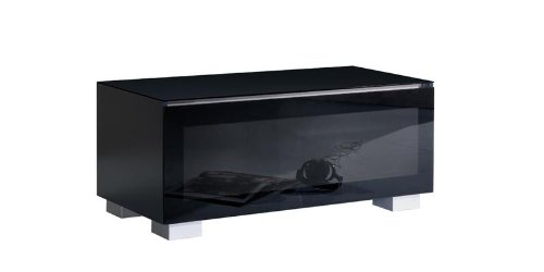 meubles tv meuble tv munari genova ge110ne noir. Black Bedroom Furniture Sets. Home Design Ideas