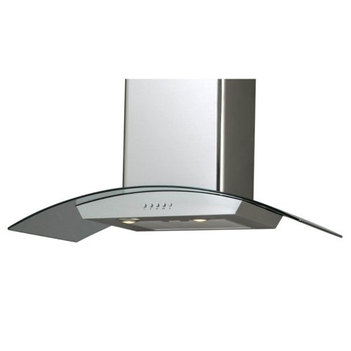 Windster Windster 36W In. H Series Wall Mounted Range Hood, Silver front-321649