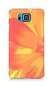 Amez designer printed 3d premium high quality back case cover for Samsung Galaxy Alpha (orange red flower)