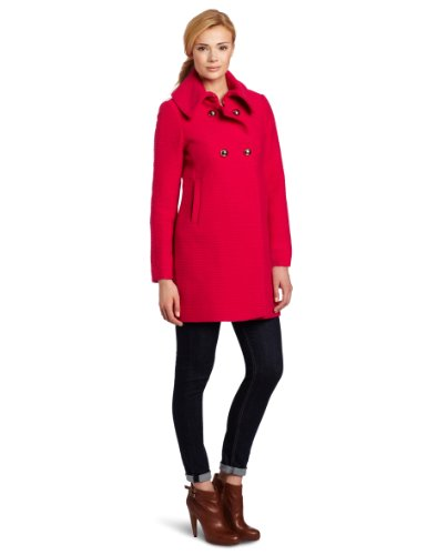 Trina Turk Women's Chloe Text Coat, Hot Pink, 0