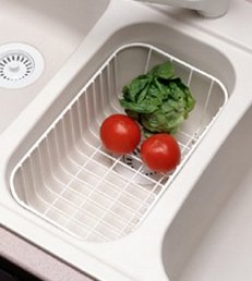Swanstone WB-22-WH 14-3/4-Inch by 8-1/2-Inch by 5-1/4-Inch Wire Utility Basket (White Finish)
