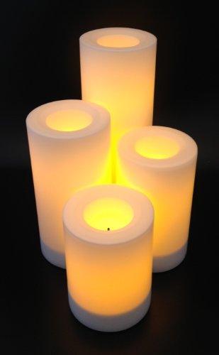 Flammenlose LED Kerzen WEISS (4er