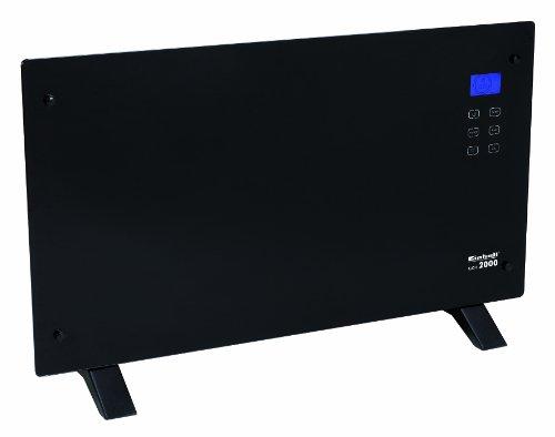 Einhell-Glaskonvektor-Heizung-GCH-2000-2000-Watt-2-Heizstufen-LCD-Display-Touchscreen-Timer-Fernbedienung-modernes-Design-Stand-oder-Wandgert-schwarz