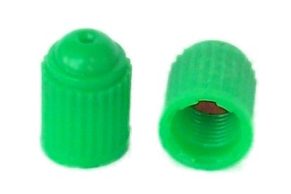 SKU 701 - 1,000 Pak Nitrogen Valve Stem Caps - Green Plastic - With Silicone Inner Seal (Silicone Valve Seal compare prices)