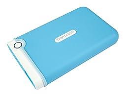 Transcend StoreJet 2.5 inch 1 TB Auto-Backup Drive (Light Blue) TS1TSJ25M3B