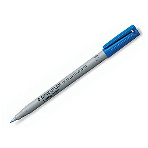 STAEDTLER Lot de 3 Marqueurs Lumocolor Non-permanent 311 Super fin 0,4 mm Bleu