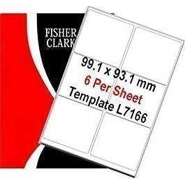 Fisher Clark-Étiquettes-Blanc-A4-Lot de 100 feuilles d'étiquettes Par feuille