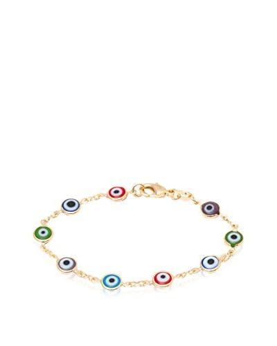 SWEET & SOFT KBR1305 Multi Color Evil Eye Bracelet, One Size
