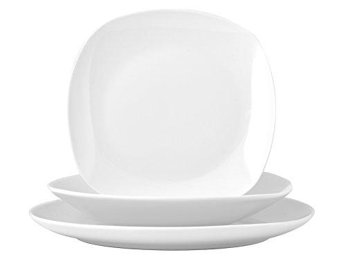Home Nova Servizio da Tavola, Porcellana, Bianco, 18 Pezzi